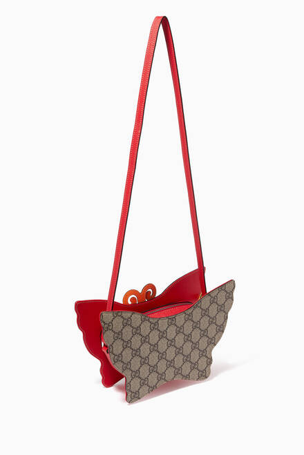 hover state of GG Butterfly Handbag in Canvas