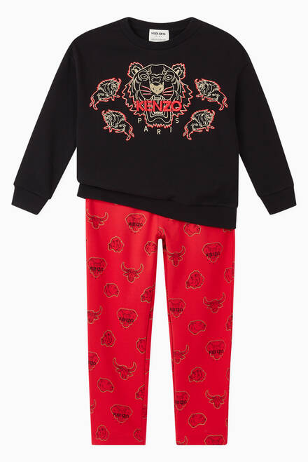 hover state of Bulls and Elephant Print Sweatpants