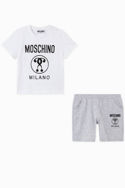 hover state of Logo T-shirt & Shorts in Cotton Jersey