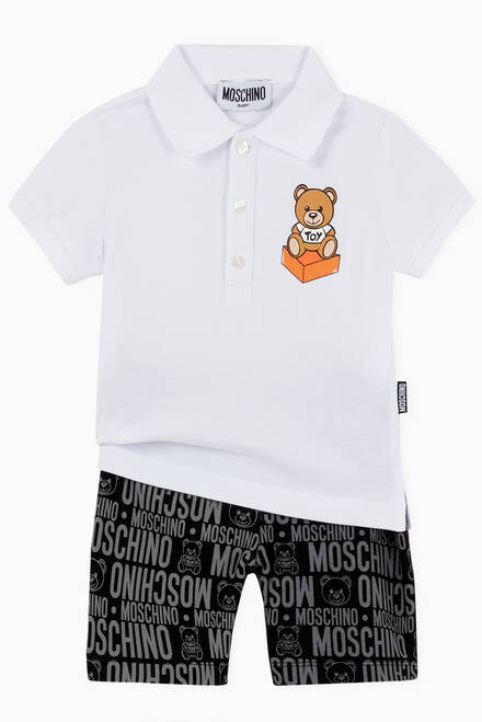 hover state of Teddy Bear Polo Shirt in Cotton Pique