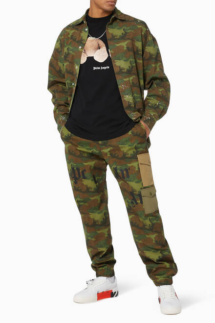 hover state of Camouflage Cotton Overshirt