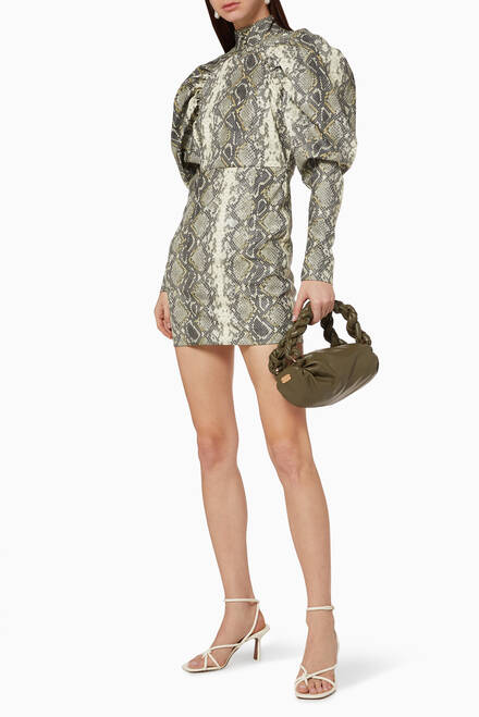 hover state of Kim Snake Print Dress