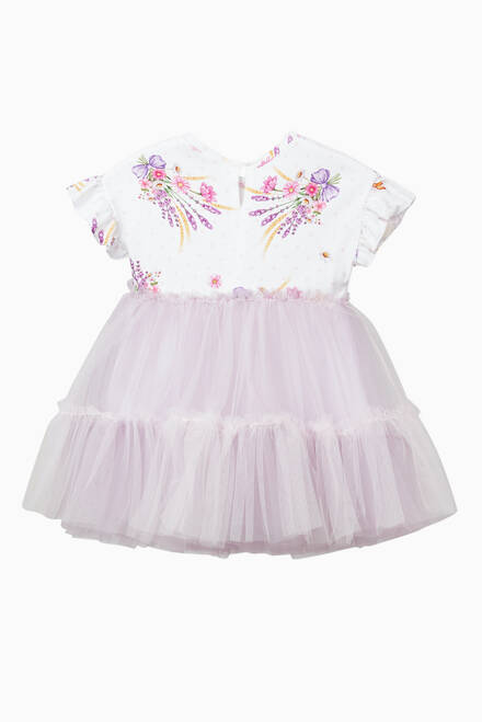 hover state of Floral Dress in Tulle