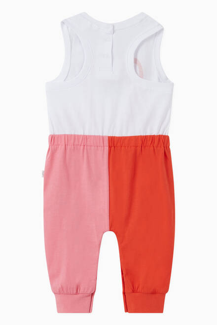 hover state of Flamingos Romper in Colourblock Organic Cotton