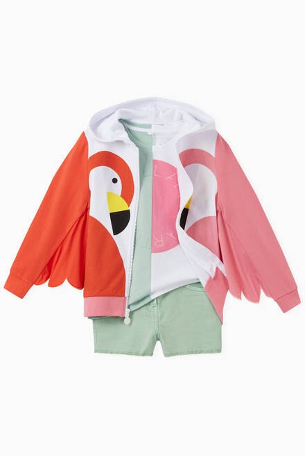 hover state of Flamingo Zip Hoodie in Organic Cotton