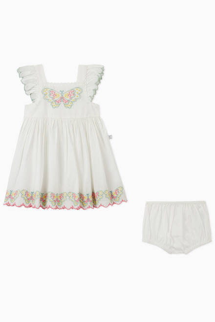hover state of Butterfly Organic Cotton Dress with Bloomers