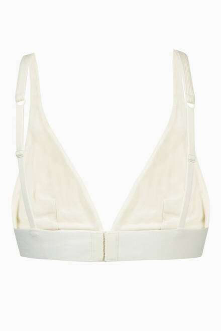 hover state of Cotton Triangle Bralette