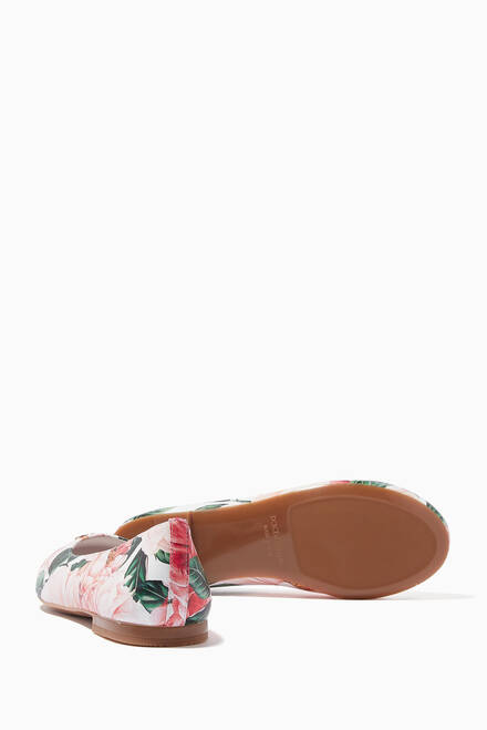 hover state of Ballet Flats in Camellia Nappa