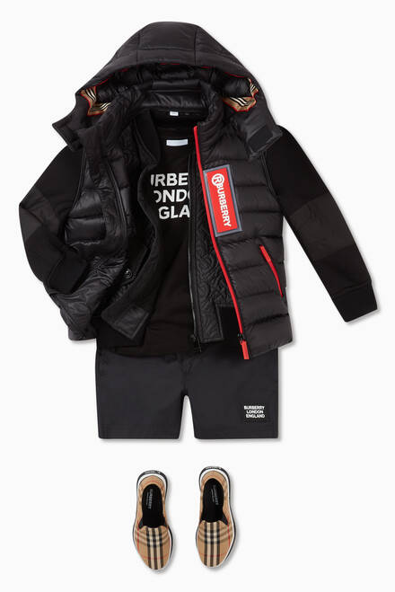 hover state of Logo Appliqué Down Puffer Gilet