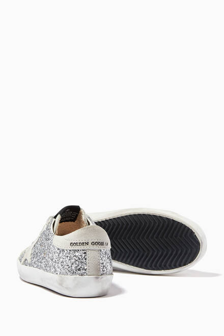 hover state of Super-Star Sneakers with Suede Star in Glitter