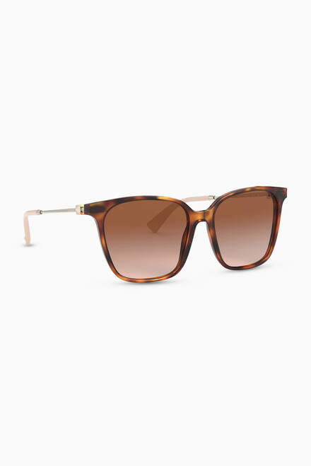 hover state of Square Frame Acetate Sunglasses