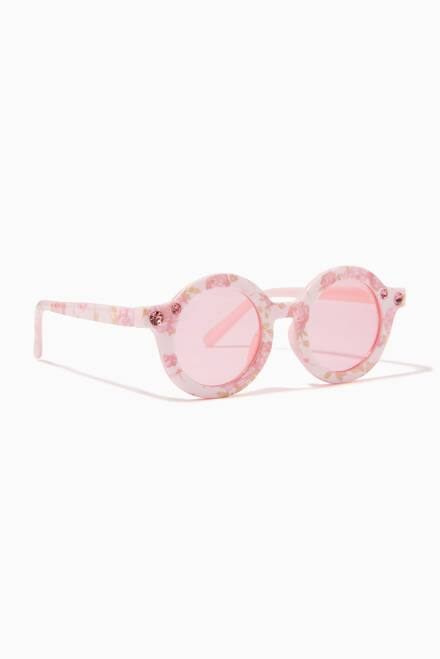 hover state of Round Roses Sunglasses
