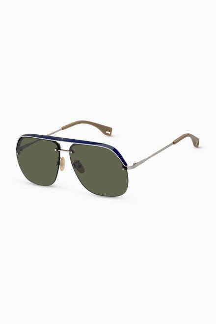 hover state of Pack D-Shape Sunglasses in Metal