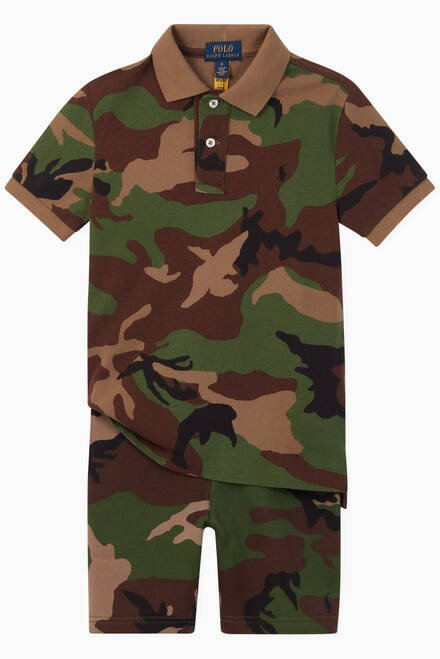 hover state of Camo Jersey Fleece Shorts