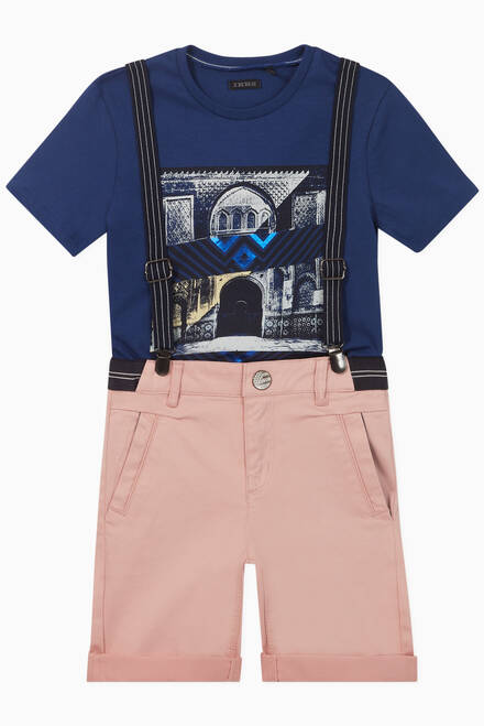 hover state of Bermuda Shorts + Suspenders Set