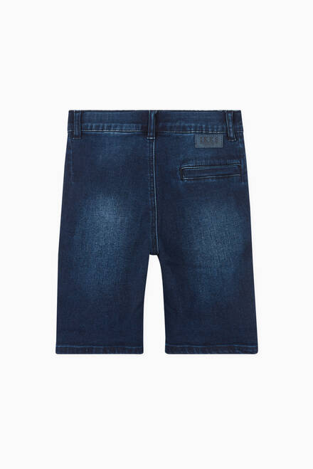 hover state of Denim Shorts in Cotton