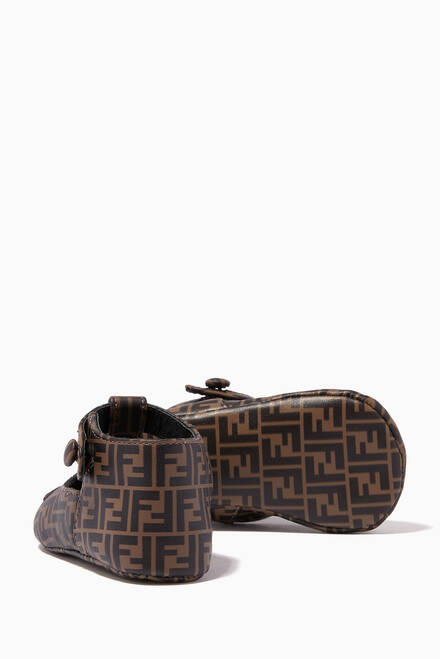 hover state of FF Monogram Sandals in Leather