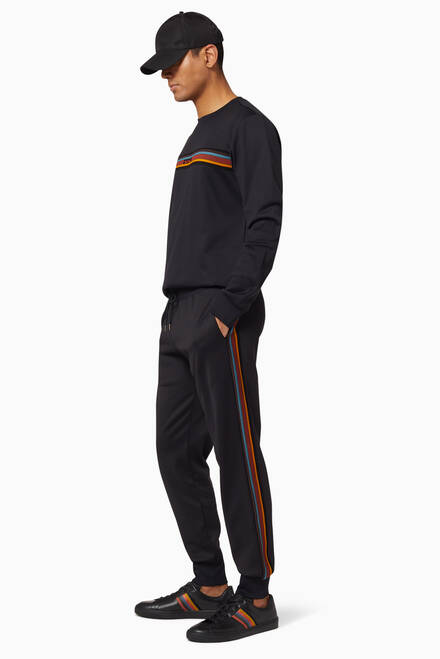 hover state of Artist Stripe Panel Sweatpants