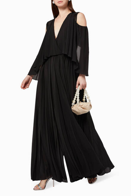 hover state of Cold Shoulder Jumpsuit