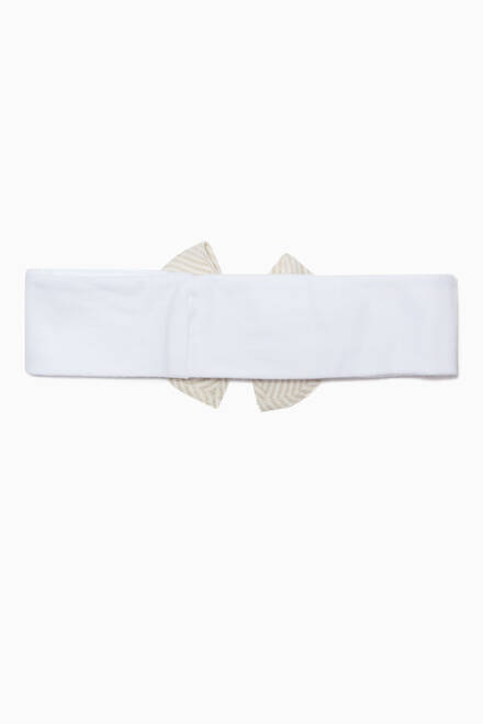hover state of Bow Appliqué Headband in Cotton