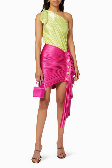 hover state of One-shoulder Draped Mini Dress