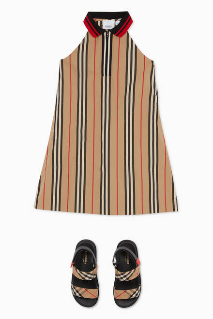 hover state of Icon Stripe Dress in Cotton Poplin