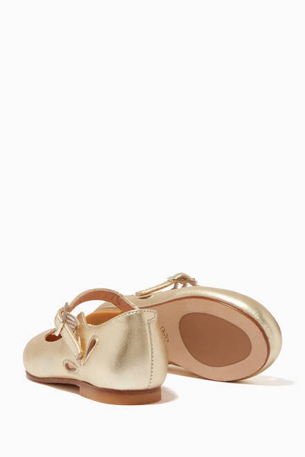 hover state of Alexa Ballerinas in Metallic Leather