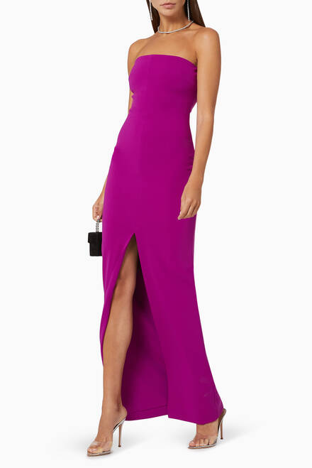hover state of Bysha Crêpe Evening Gown