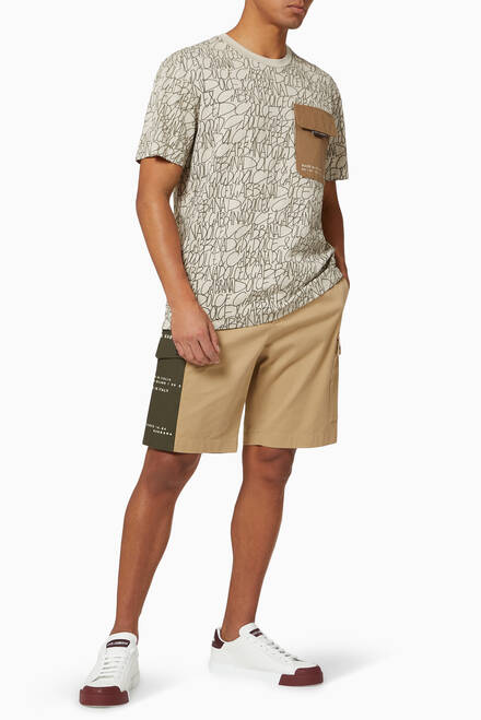 hover state of T-shirt with Cargo Pocket in DG print Cotton Jersey