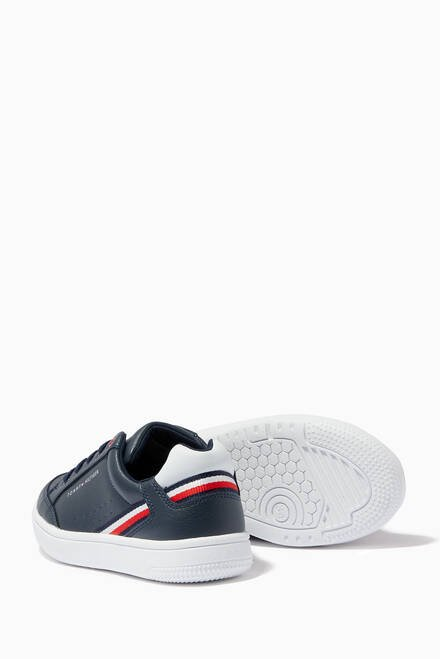 hover state of Tricolour Sneakers in Faux Leather
