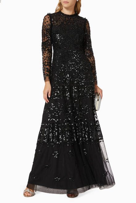hover state of Aurora Gown in Sequin Tulle