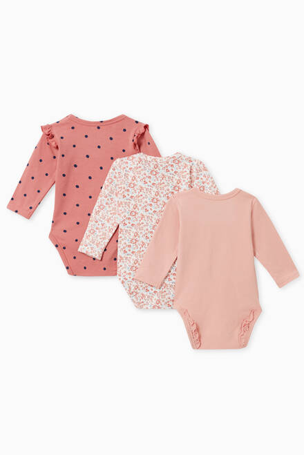 hover state of Ruffled Cotton Bodysuit, Set of 3