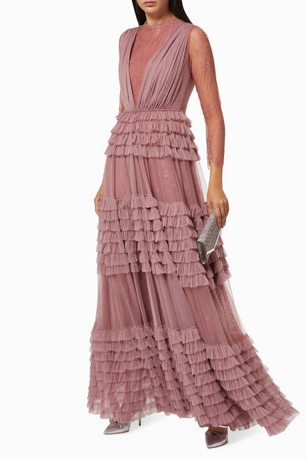hover state of Frill Tiered Dress