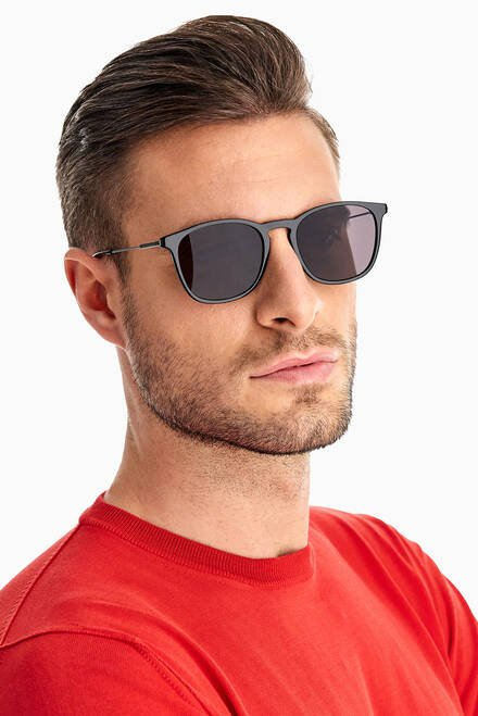 hover state of D Frame Sunglasses in Acetate