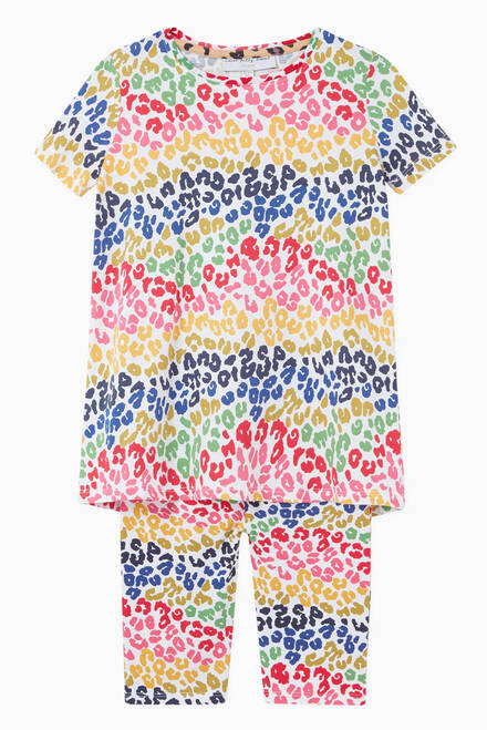 hover state of Rainbow Leopard T-shirt in Organic Cotton Jersey
