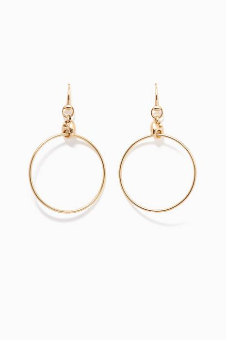 Yellow-Gold Marina Hoop Earrings