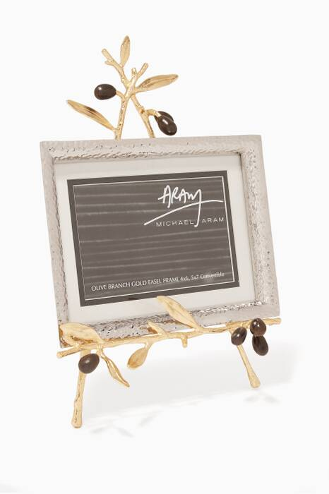 Golden Olive Branch Easel Frame