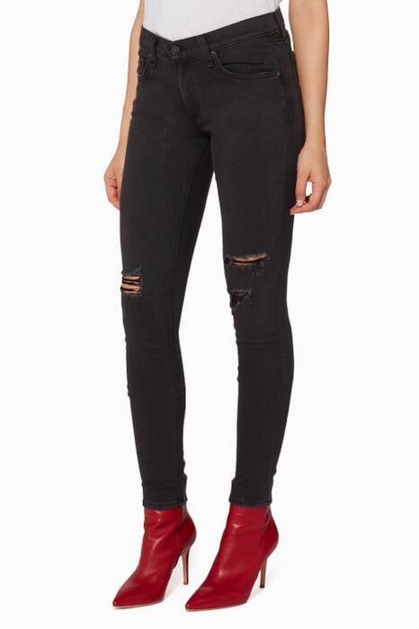 Black Soft Rock Skinny Jeans