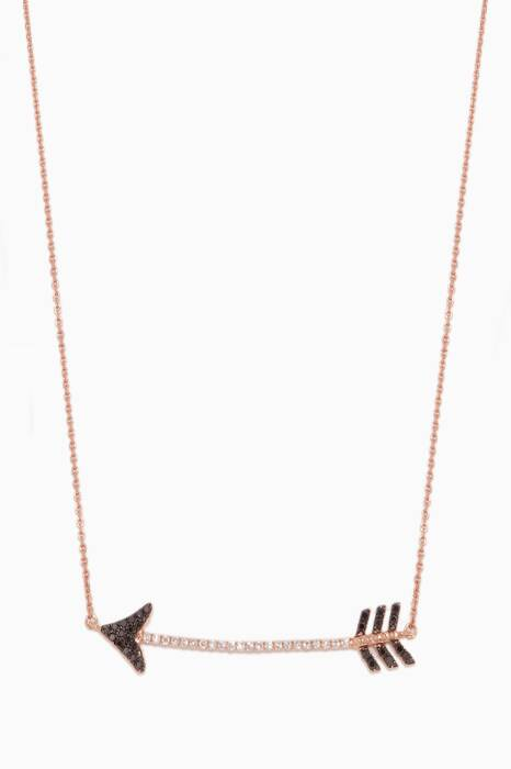 Rose-Gold & Diamond Eros Arrow Necklace