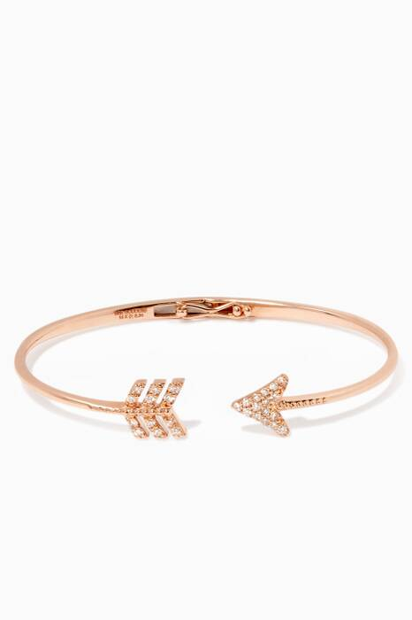 Rose-Gold & Diamond Eros Arrow Bangle