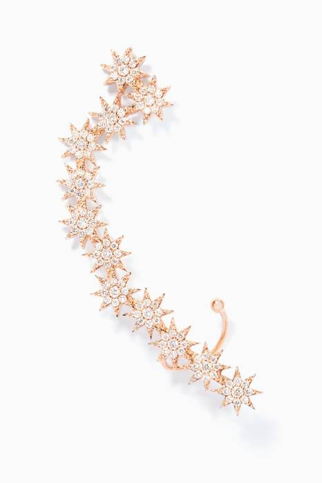Gold And Diamond Ishtar Star Earcuff