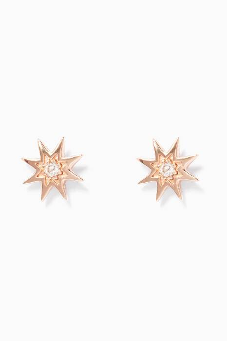 Gold And Diamond Istar Star Earrings