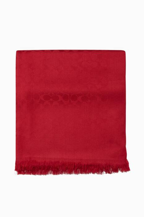 True-Red Jacquard Stole