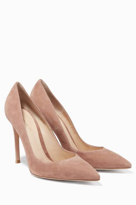 Beige Gianvito Suede Pumps