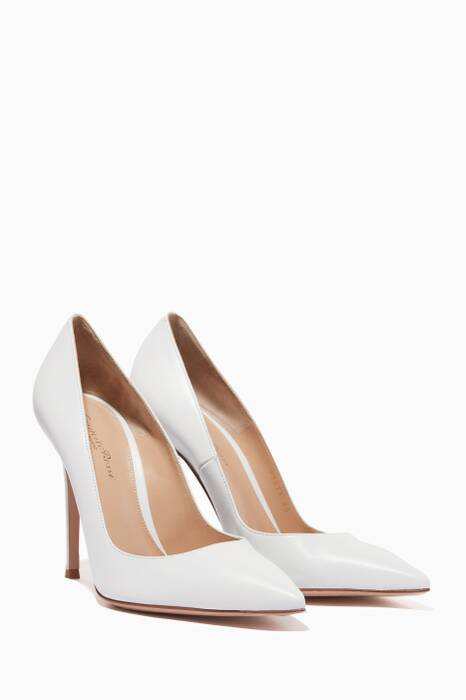 White Gianvito Leather Pumps
