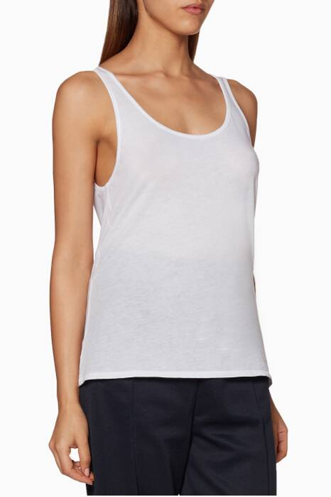 White Base Tank Top