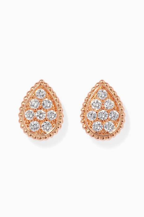 Rose-Gold Serpent Bohème Stud Earrings