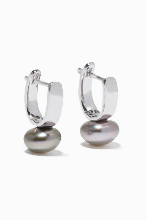 White-Gold Akila Pearl Earrings