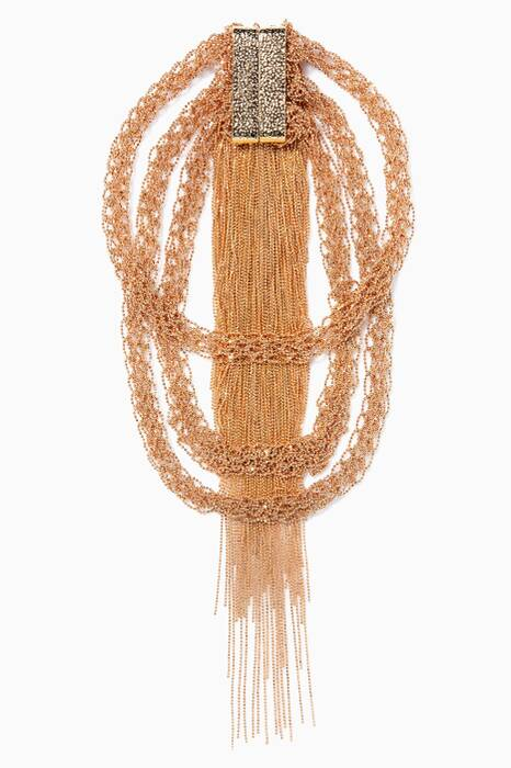 Gold Fringe Coin Itaca Necklace