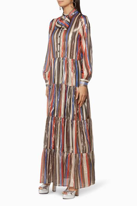 Striped Lurex Imponente Dress